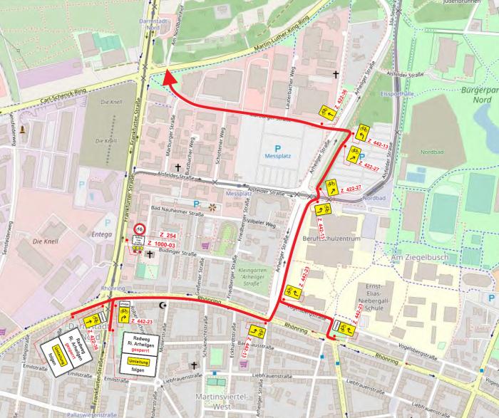 Umleitung für den Fahrradverkehr