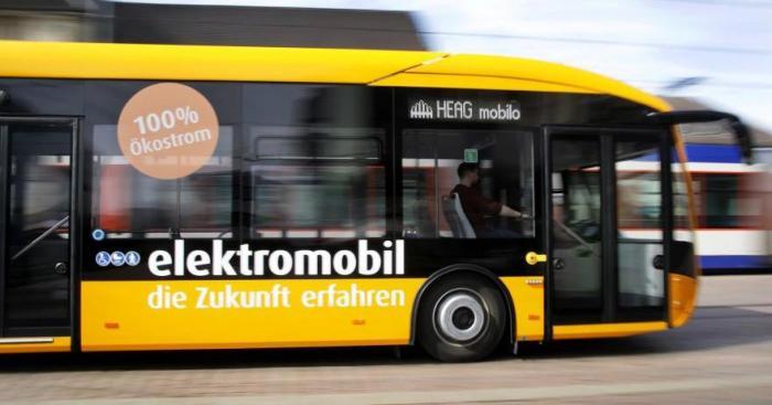 Elektrobus der HEAG mobilo