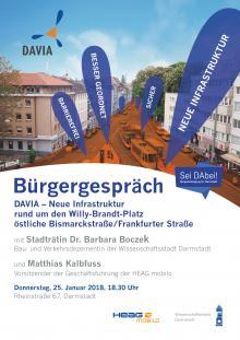 Plakat Bürgergespräch 25.1.2018