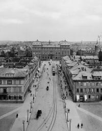 1886 - Rheinstraße Endhaltestelle Schloss