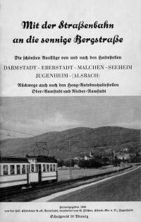 1939 Ausflugsbroschüre Bergstraße