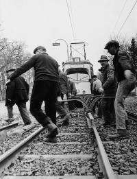 1962 Gleisarbeiten