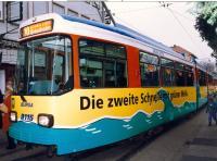 """Schnelllinie nach Griesheim: Acht Jahre lang – von 1993 bis 2001 – fuhr die """"Schnelle 10"""" zusätzlich zur regulären Linie 9."""