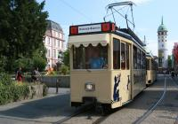 Eine Markise ziert den Triebwagen des Datterich-Express