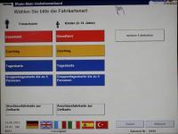 Automat Touchscreen Fahrschein