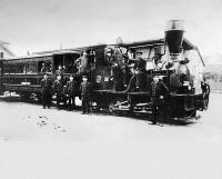 Dampfstraßenbahn der Süddeutschen Eisenbahn Gesellschaft auf der Strecke Arheiligen-Eberstadt