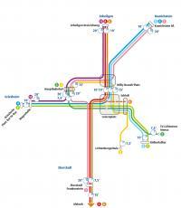 Grafik des neuen Verkehrskonzepts der Straßenbahn
