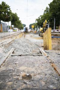 Die Bauarbeiten am Gleisdreieck stehen vor dem Abschluss.