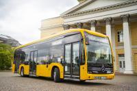Elf neue Standard-Elektrobusse sind ab jetzt in Darmstadt unterwegs.