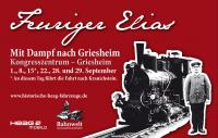 Plakat Septemberfahrten Feuriger Elias