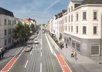 """Barrierefreie Haltestelle """"Bessunger Straße"""""""