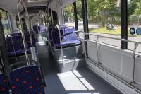 Innenraumansicht der neuen MAN-Gelenkbusse