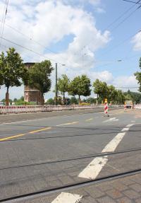 In den Sommerferien beginnt der Bau des Straßenbahngleisdreiecks an der Alsfelder Straße.