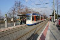 """Ab 10. Dezember halten die Linien 1, 7 und 8 an der neuen Haltestelle """"Lincoln-Siedlung""""."""