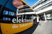 Elektrobus auf dem Betriebshof Böllenfalltor der HEAG mobilo