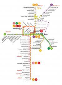 Liniennetzplan Straßenbahn Herbstferien 2021