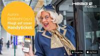 Aurora DeMeehl wirbt für das neue Handyticket der HEAG mobilo.