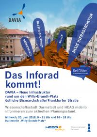 Plakat Inforad zu DAVIA am 20. Juni