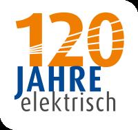 Logo 120 Jahre elektrisch