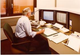 Neue Technik: Die Leitestelle 1979.