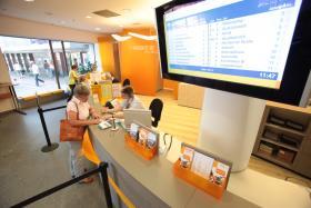 Modernes Ambiente: Das Kundenzentrum nach dem Umbau 2010