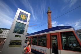 Dynamische Fahrgastinformation am Luisenplatz